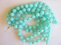 Aqua bubble beads with crystals #1583