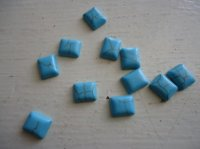 Turquoise Square Cabs (10mm X 12mm) BAG OF (5) #CAB-26