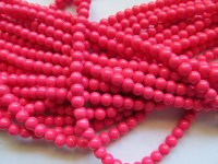 Pink Watermelon rounds 8mm #1392