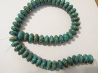 Turquoise Mosaic Rondelle beads #1328