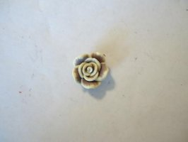 Polymer clay Brown rose #FL40