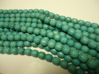 Turquoise barrel beads #GG1106