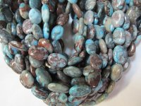 Turquoise brown oval Agate 14x18mm #1413