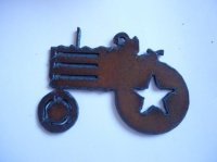 Tractor metal cutout pendant #BY006L