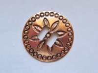 "Slotted Copper Concho (2"") #CONCHO28"