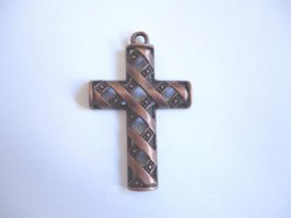 Cross - antique copper #PP21