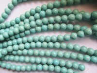 Turquoise rounds 14mm #1733