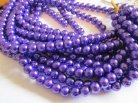 Purple glass pearls #1530