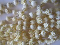 Off white resin rose beads #1322