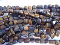 Tiger Eye Tumbled Natural Stone Beads #SS1144