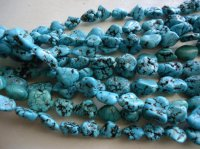 Turquoise nugget beads 8mm-15mm #1194