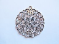 Antique Silver Scrolled Pendant #PP84