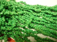 Green small chunk beads #GG1211