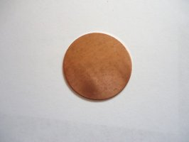 Blank copper disc for stamping #CPC20X125