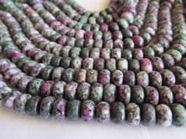 Green and purple agate rondelle beads #1220-AAT