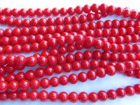 Red 10mm Glass pearls #1862