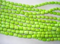 Lime green barrel beads #SS1030