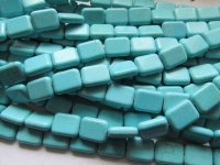 Turquoise rectangle howlite - #1729