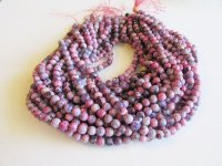 Pink purple agate rounds #1570