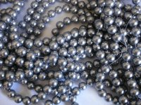 Silver Glass pearls #SS1115B-12mm