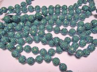 Turquoise crystal bubble beads #HU14-1491