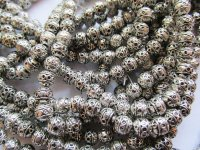 Silver round metal beads #ZA-671-S-35
