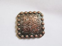 Antique copper square berry concho #YYY01-C-CONCHO9