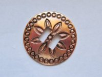 "Slotted Copper Concho (1 1/2"") #CONCHO31"