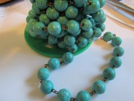Bead Chain - Turquoise - Bronze (1ft) 12mm