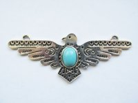 antique silver Thunderbird pendant #MP110