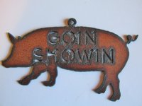 Goin showin - Pig ornament #ORN-BY008-B