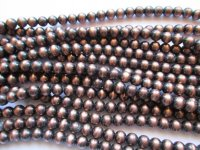 Copper faux Navajo Indian pearls acrylic round 8mm #1614