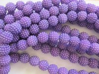 Purple bubble beads #A-1466