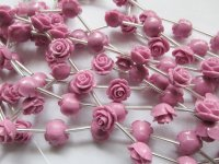 Rose acrylic flower roses 10mm #1306
