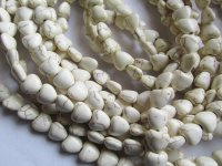 White small heart beads 9mm #1742