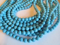 Turquoise Howlite 8mm rounds #GG1080