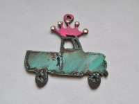 Truck with Crown-Crystals & Patina #RM68