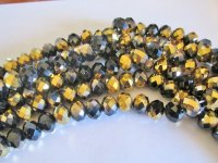 Black and Gold Faceted Crystals #1681