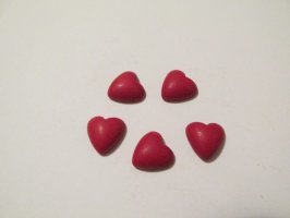 12mm Red Heart Cabochon (bag of 5) #CAB-13