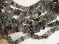 Purple, grey, green Florite chunk beads #SS1149