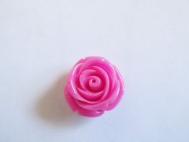 Pink resin flower rose #FL13