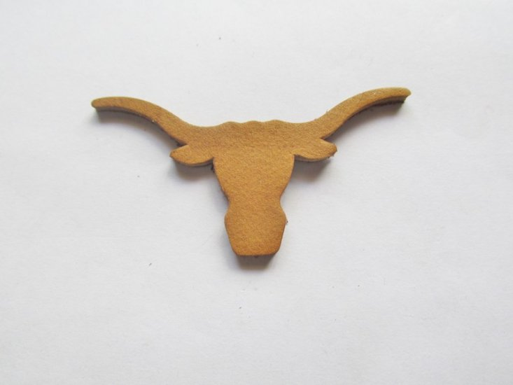 Tan Leather Steer Head # LC59-4 - Click Image to Close