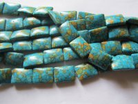 Turquiose Mosiac Rectangle Beads #1324-A