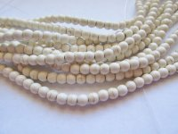 Off White Howlite Rounds 8mm #1706