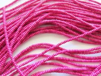 Fushia small rondelle beads #1548