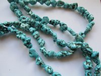 Turquoise nugget beads 16mm #1842