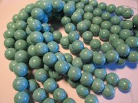 Turquoise magnesite rounds #1512