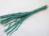 Suede Tassel Turquoise - long