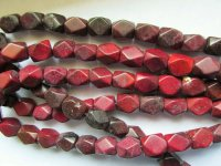 Maroon shaped beads 15x13mm #1753