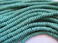 Turquoise Rondell 3x6mm beads #1805